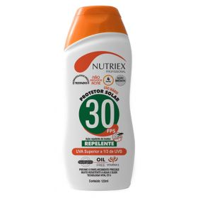 PROTETOR SOLAR FPS 30 1/3 UVA COM REPELENTE 120ML NUTRIEX 1