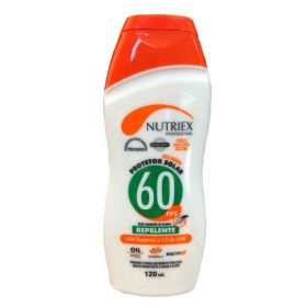 PROTETOR SOLAR FPS 60 1/3 UVA COM REPELENTE 120 ML NUTRIEX 1